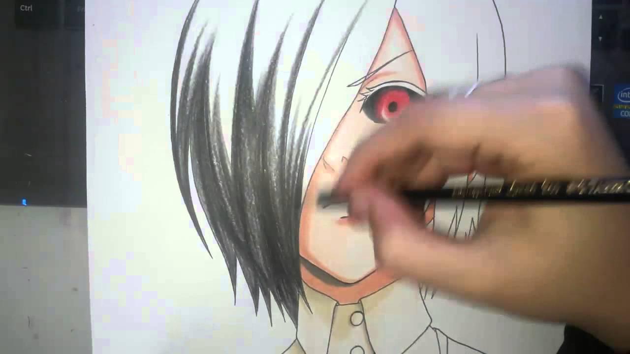 Speed Drawing Kirishima Touka Tokyo Ghoul Youtube