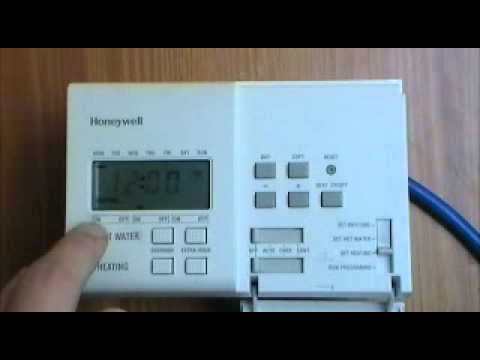 Honeywell ST6400C Timeswitch user instructions by AdvantageSW  YouTube