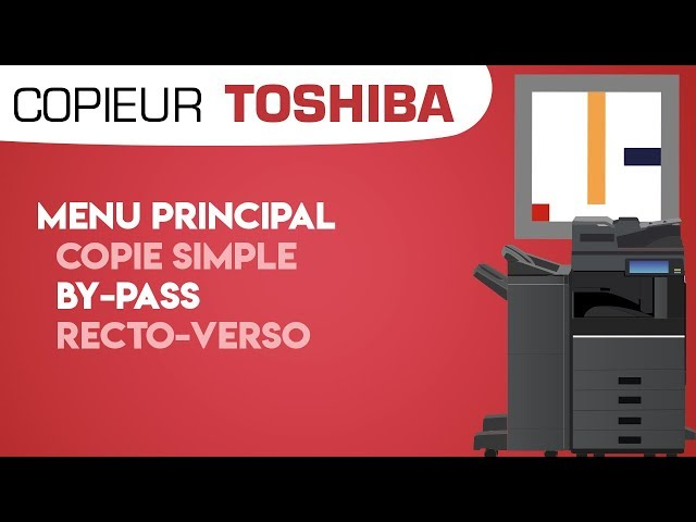 #1. Menu Principal - Copie simple, By-Pass et recto-verso