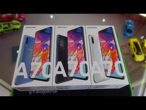 unboxing-samsung-galaxy-a70-blue,-black-and-white-colors-and-test-camera