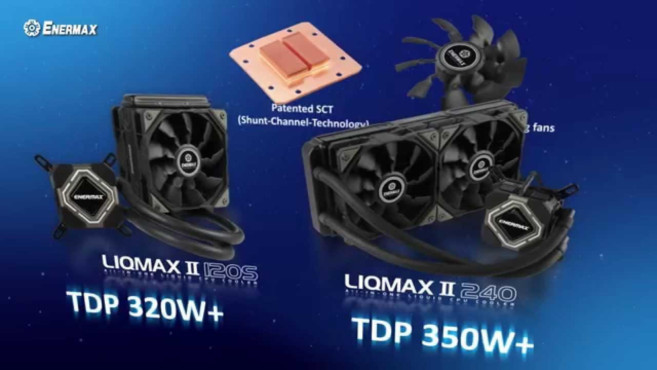 Enermax Liqmax Ii Aio Cpu Liquid Cooling Youtube