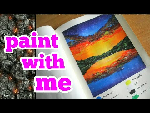 Simple Landscape Painting With Acrylics – Painting Time lapse 1