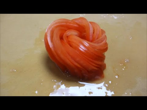 Tomato Rose Re-Do (better viewing angle) - How To Make Sushi Series