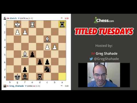 Titled Tuesday 2-5: GM Conrad Holt vs IM Greg Shahade