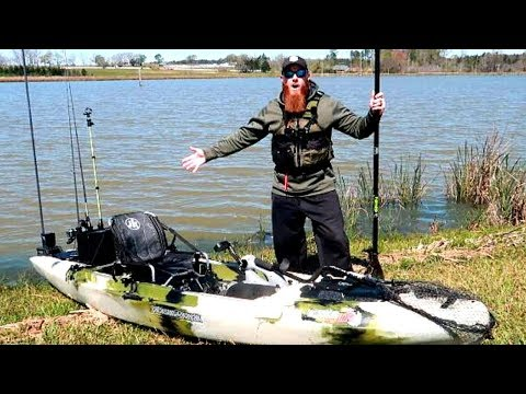 My New Fishing Boat Kayak This Thing Is Sick Youtube