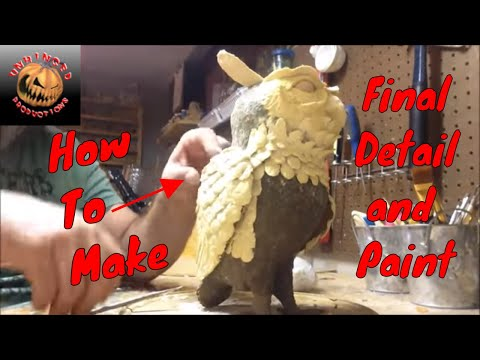 Paper mache owl completed
