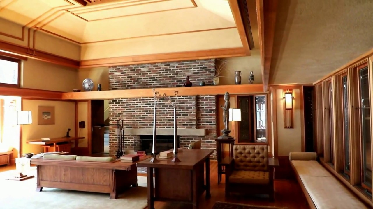 Awesome Living Room From The Francis W Little House Windows And Paneling By Frank  Lloyd Wright