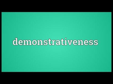 Header of demonstrativeness