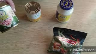 Салат из консервированной кукурузы и фасоли