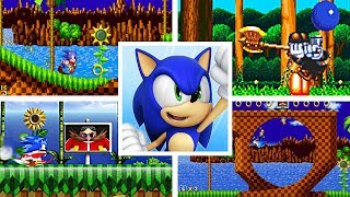 Evolution Of First Levels In Sonic The Hedgehog 2D Platformer Games (1991-2017)