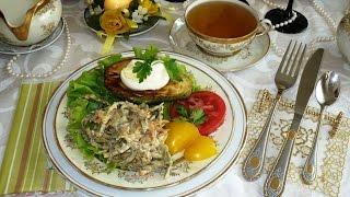 Салат с авокадо, сыром и зеленью