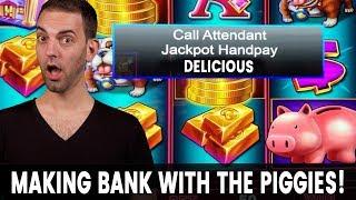 🐽 Piggy JACKPOT Handpay! 🏦🏦🏦 FREE GAMES BONUS!