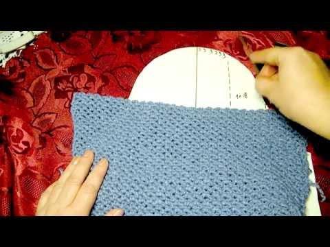 Вязание плеча и горловины спинки крючком