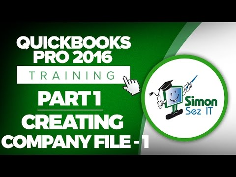 Quickbooks Pro Training Part How To Create Your Company File In Quickbooks