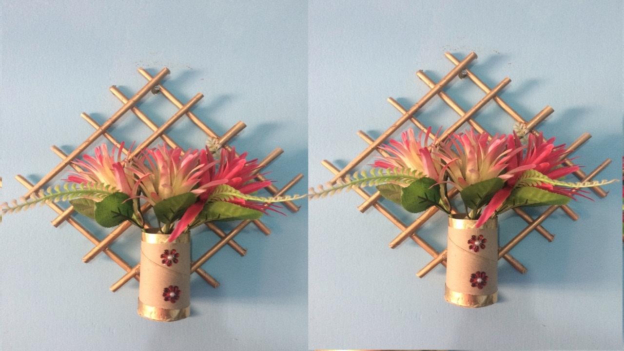 Newspaper Wall Hanging Newspaper Flower Vase Youtube