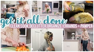*NEW* GET IT ALL DONE // CLEAN WITH ME, ORGANIZE, COOK, PAMPER // TIFFANI BEASTON HOMEMAKING 2020