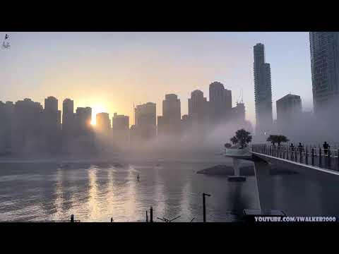 Первый День – весна 2021 –  прогулка по Dubai Bluewaters, туман на Dubai Marina и о цензуре в Инете