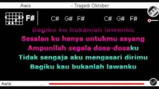 Awie - Tragedi Oktober dgn Kord + Lirik.flv