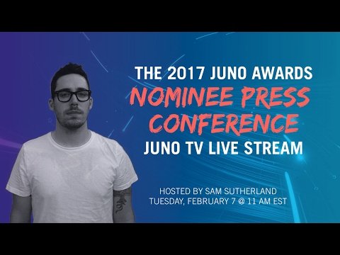 The JUNO Awards Nominee Press Conference | JUNO TV Live Stream