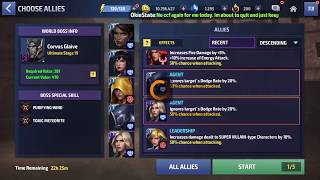 Spider-Man T3 Skill in action! vs Corvus Glaive Stage 19 (WBU) MFF
