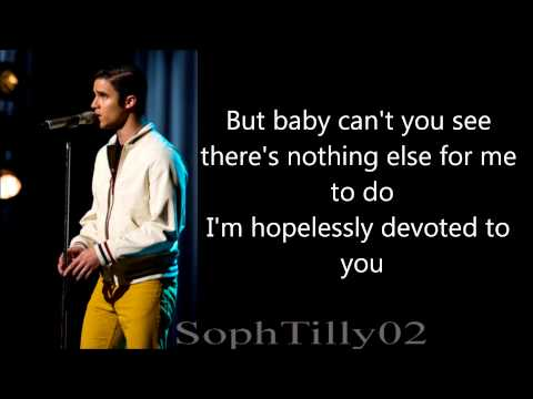 Glee - Hopelessly Devoted To You (Lyrics)