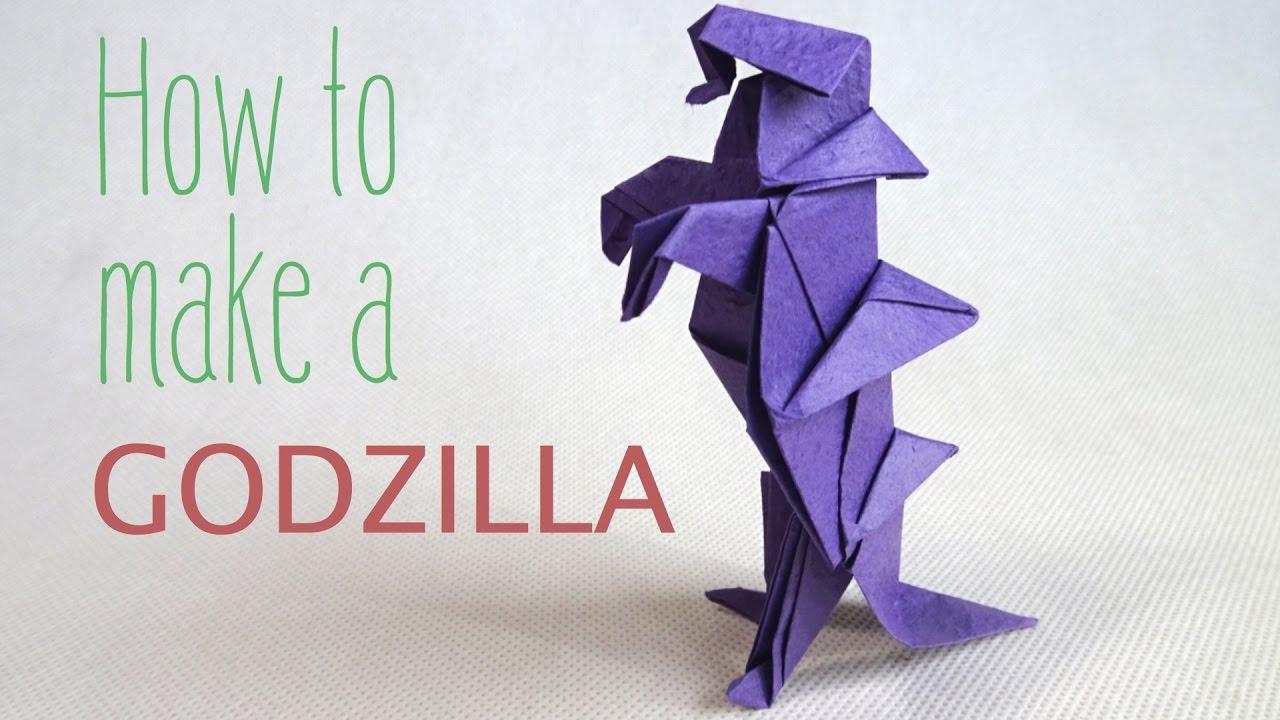how to fold a paper godzilla origami godzilla youtube