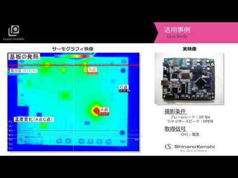 サーモグラフィ+データロガー 「基板の発熱」