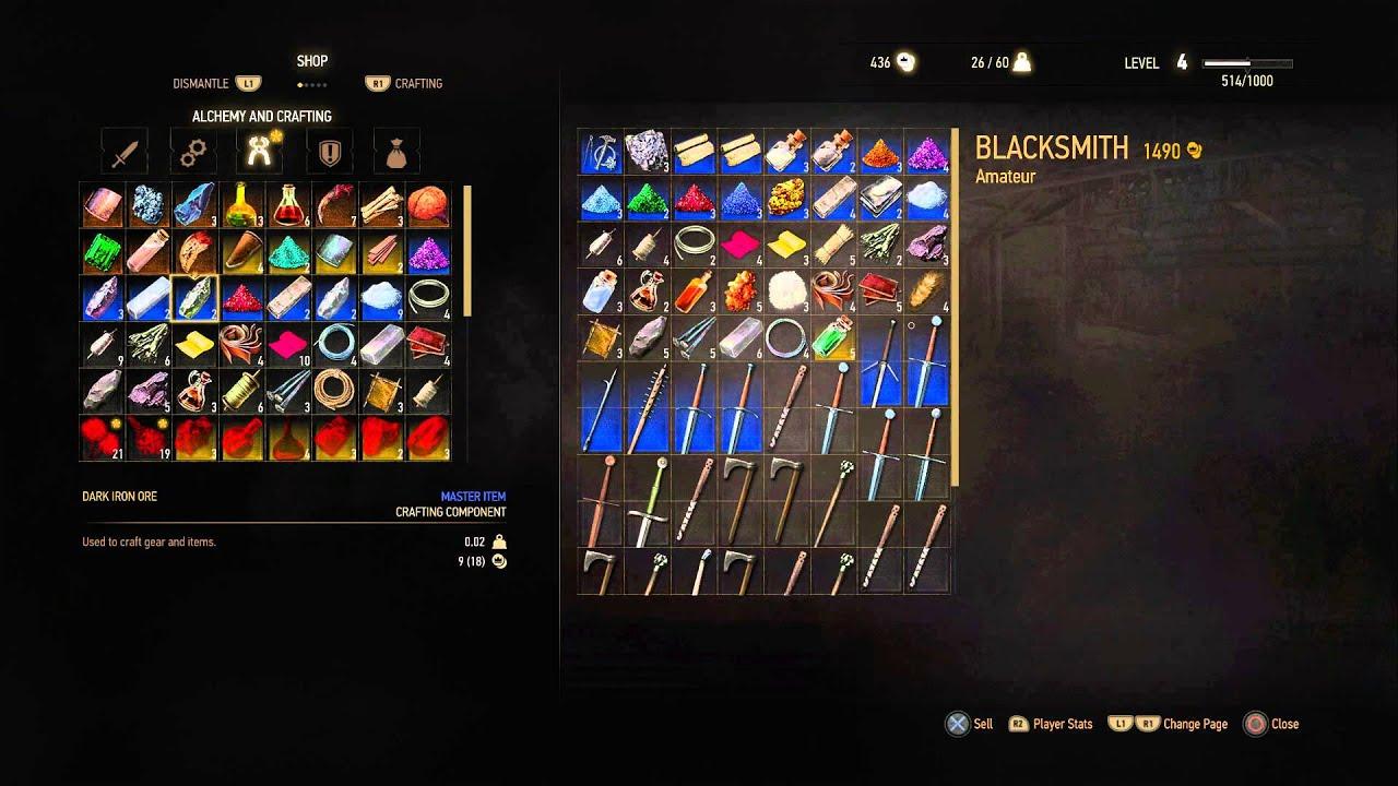 Witcher  Where To Craft Serpentine Sword