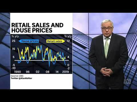 Australia's retail sales are following the downward trend of falling housing prices
