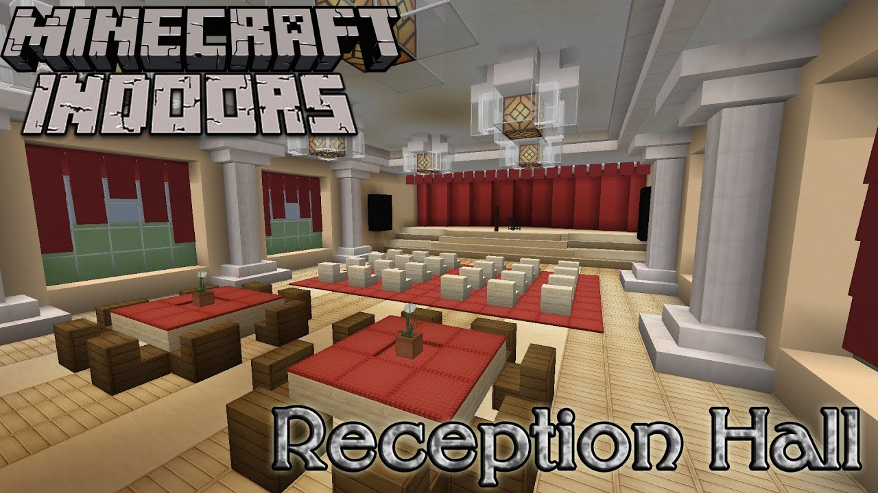 Best Interior Design School Model minecraft indoors interior design  reception hall  youtube
