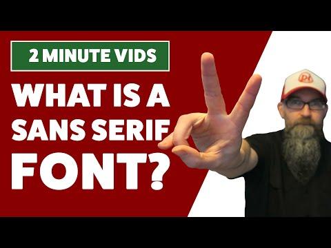 What is a sans serif font?