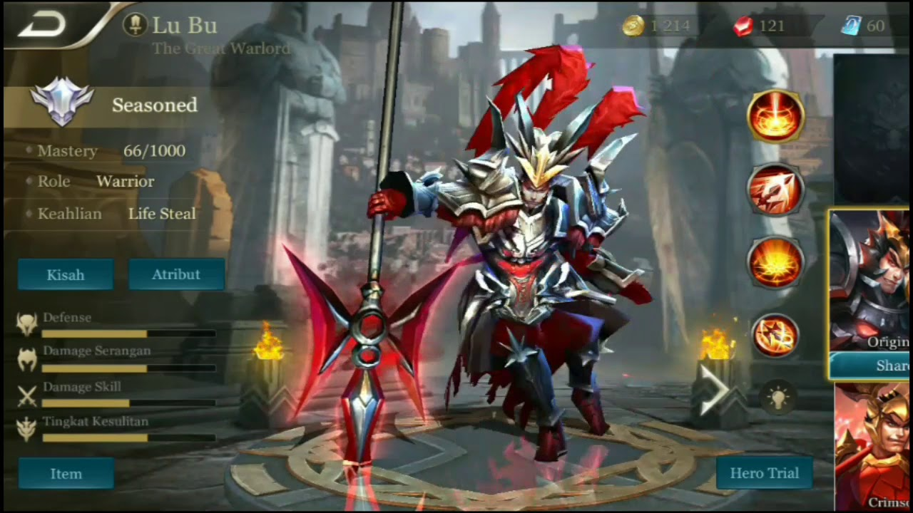 Lubu Aov Garena Indonesia Hero Skill Details