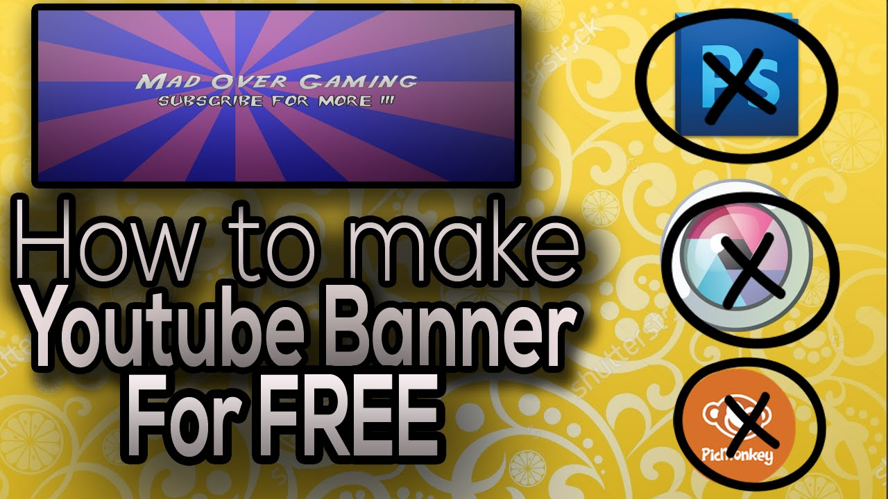 how to make a youtube banner  channel art in panzoid  free