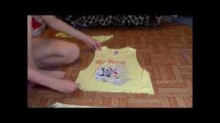 как сделать короткий топ из футболки/ easy DIY crop T-shirt