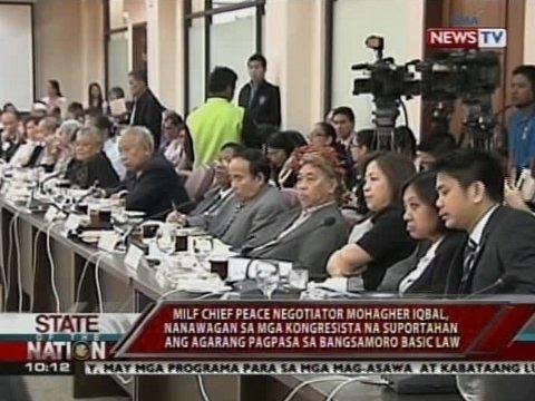 SONA: Mohagher Iqbal, nanawagan sa mga kongresista para sa agarang pagpasa sa Bangsamoro Basic Law