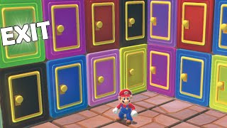 100 Mystery Doors But Only One Lets MARIO Escape (Preston 100 Mystery Doors parody)