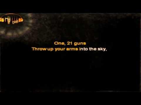 Green Day - 21 Guns karaoke