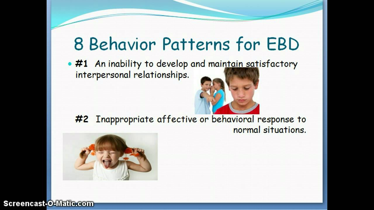 Emotional or Behavioral Disorders