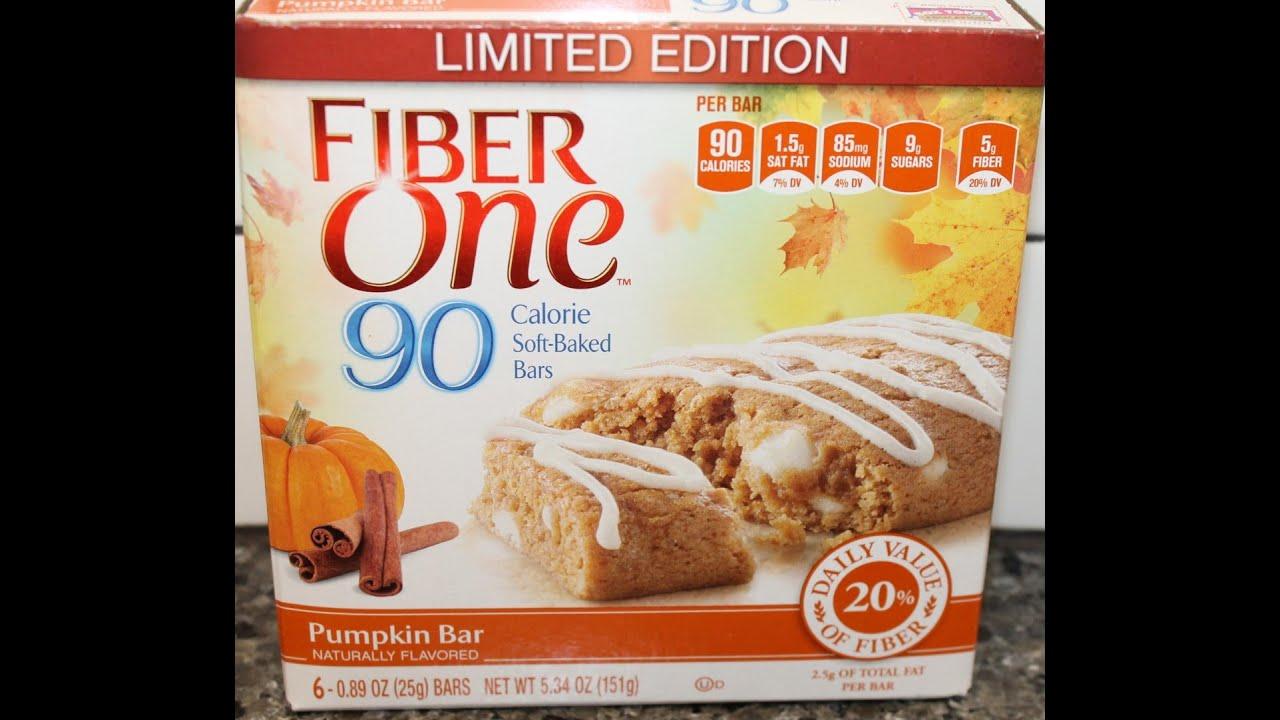 Fiber One: Pumpkin Bar Review - YouTube