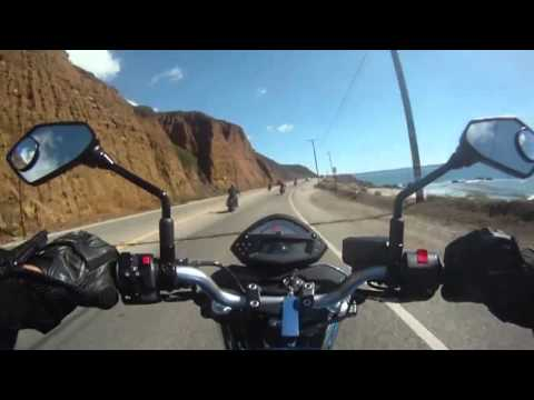 GOPRO HERO - Riding a Motorcycle on Pacific Coast Highway 1 - California Coastline