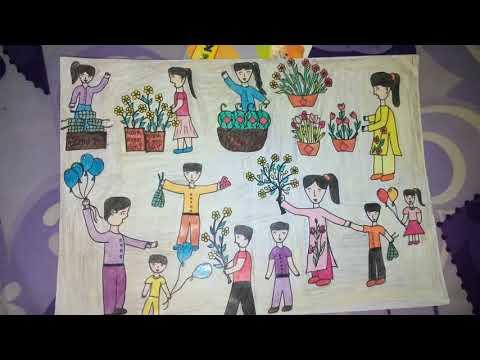 vẽ tranh ngày tết đơn giản tại kienthuccuatoi.com