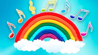 Детская песенка на Английском - Colors Of The RAINBOW - ЦВЕТА РАДУГИ   Развивающее видео