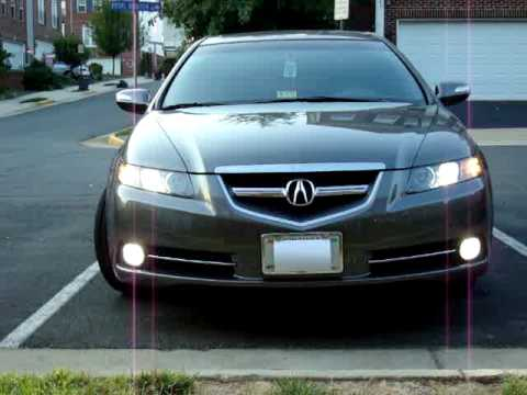 2008 Acura Tl S Philips H I D Fog Lights Youtube