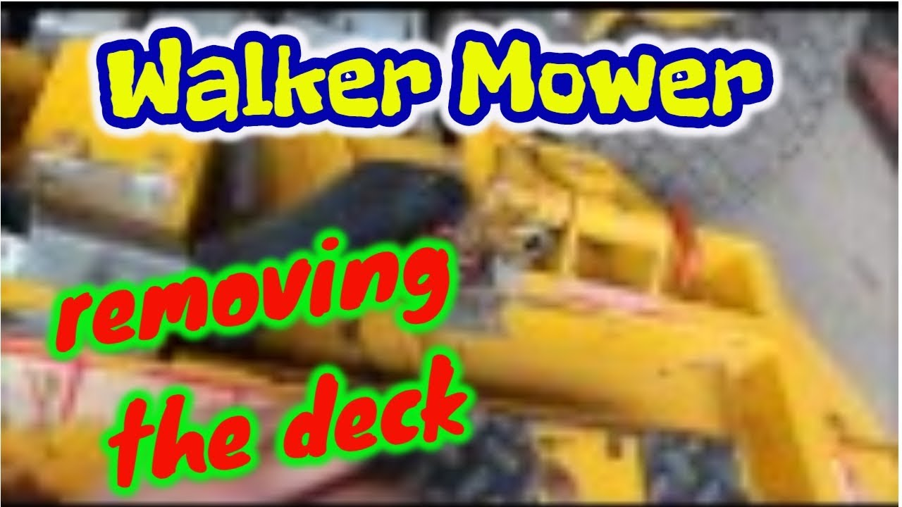 Walker mower deck removal -