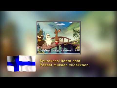 Moomin intro in 17 languages, with lyrics.