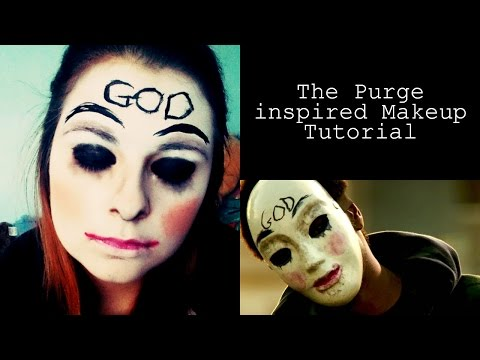 The Purge Halloween Makeup Tutorial  Hostzin.com - Music Search Engine
