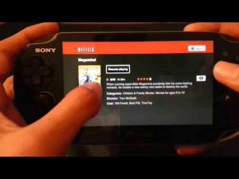 PS Vita Netflix App