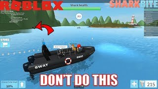 How NOT to Use SWAT Boat | Facing HACKER | Roblox Sharkbite