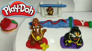 How to make Lord Ganesha with doh   play doh making    the games unboxing