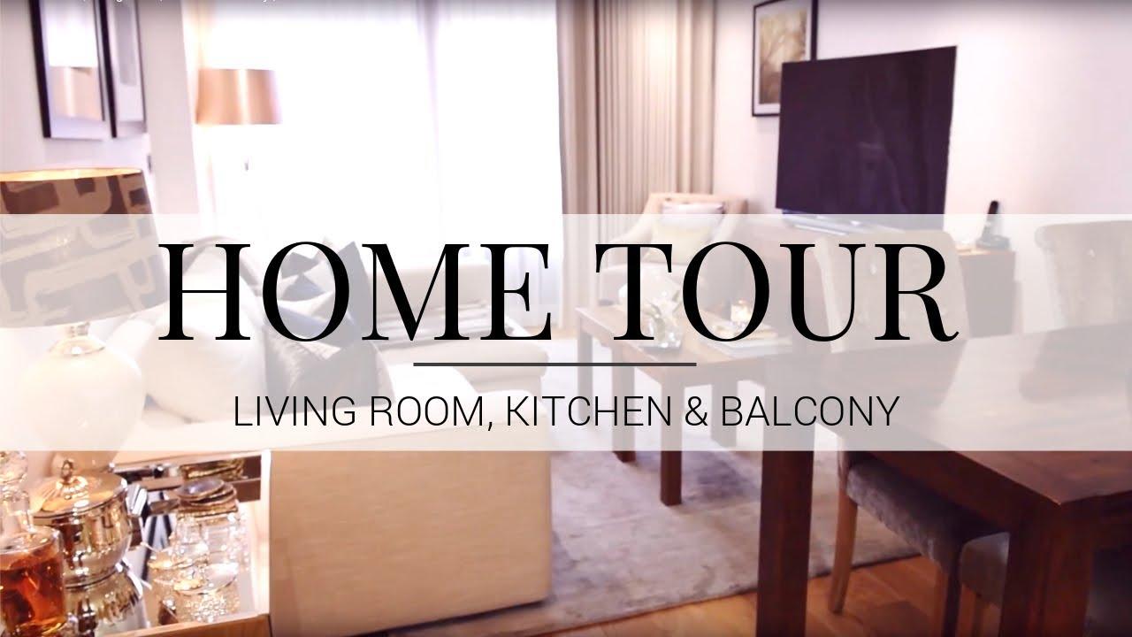 HOME TOUR | Living Room, Kitchen & Balcony | JASMINA PURI - YouTube